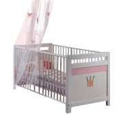 Babybed Liss - wit/roze, Wimex