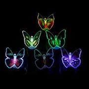 12pcs luminosa luz colorida borboleta led (cores aleatórias)