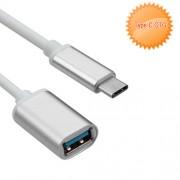 Adaptador extension USB OTG a tipo C plata