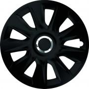 Set Capace Roti Negre Cu Inel Cromat Stratos 16