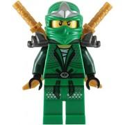 LEGO Lloyd Zx Green Ninja With Dual Gold Swords