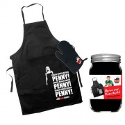 The Big Bang Theory Cooking Apron With Oven Mitt Knock Knock Penny! Sd Toys