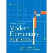 Modern Elementary Statistics by Benjamin M. Perles