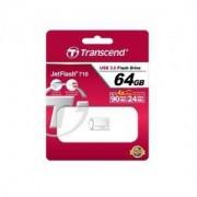 Памет Transcend 64GB JetFlash 710, USB 3.0, Silver Plating - TS64GJF710S