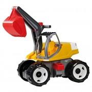 Lena 02062 - Escavatore giocattolo, colore: Bianco/Giallo, dimensioni: ca. 80 cm