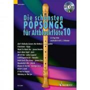 Schott-Verlag - Die schönsten Popsongs 10 m.CD 1-2 Alt-Blockflöten