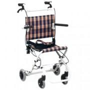 sedia a rotelle / carrozzina pieghevole da trasporto di dimensioni con