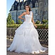 Lanting Bride De Baile Pequeno / Tamanhos Grandes Vestido de Noiva - Clássico e atemporal Longo Mula Manca Organza com