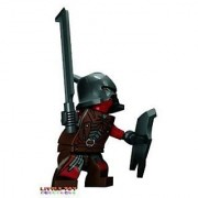 LEGO Lord of The Rings Minifigure: URUK-HAI with Helmet Shield and Sword