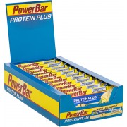 PowerBar Protein Plus 30% Sportvoeding Vanilla-Coconut 15 x 55g geel/blauw Energierepen