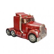 Décor Red Semi-Trailer Truck LED Table Lamp