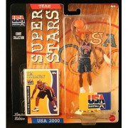 TIM HARDAWAY * 2000 OLYMPICS MEN'S BASKETBALL TEAM U.S.A. * NBA Team Super Stars Limited Edition Figure USA Display Base & Exclusive Topps Collector Trading Card