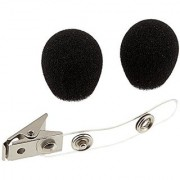 Shure RK318WS Black Foam Windscreens and Clothing Clip for All WH10 WH20 Headworn Microphones Set of 2