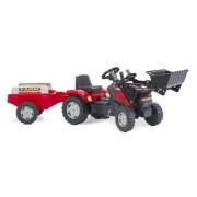 Falk 961AM - Tractor a pedales con pala y remolque, color rojo