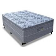 Conjunto Box Colchão Probel Molas Pocket Perfil Springs Gray + Cama Box Nobuck Cinza - Conjunto Box King Size - 193 x 203