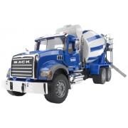 Bruder - 2814 - Véhicules sans piles - Camion toupie à béton Mack - Bleu
