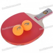 High Quality Table Tennis Racket Bat with 2 Ping-Pong Balls - Short Handle