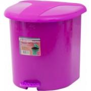 Cos gunoi cu pedala 15 litri roz
