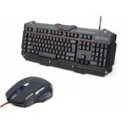 Kit Tastatura + Mouse Cu Fir Gembird KB-UMGL-01+MUSG-02 Negru