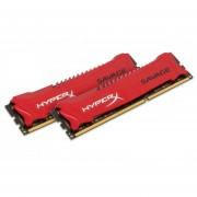 Kingston HyperX Savage Memory Red - 16GB Kit (2x8GB) - DDR3 1866MHz Intel XMP - 16 GB (2 X 8 GB) - DDR3 SDRAM - 1866 MHz DDR3-1866/PC3-14900 - 1.50 V - Non-ECC - Unbuffered - 240-pin - DIMM - HX318C9SRK2/16