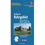 Fietskaart NRW04 Bikeline Radkarte Ruhrgebiet | Esterbauer