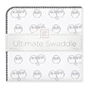 SwaddleDesigns Ultimate Sterling Mama, Papa and Baby Owls Receiving Blanket