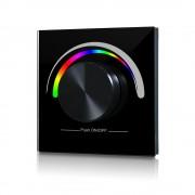 SL-2836E-B forgógombos RGB LED vezérlő rádiófrekvenciás működésű fekete