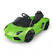 Lamborghini Aventador Kids 6v Electric Ride On Toy Car W/ Parent Remote Control Green