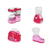 Toyhouse Soybean Milk Maker, Water Dispenser Coffee Maker and Bread Maker, Pink