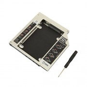 CNCT SATA 2nd HDD caddy for Unibody MacBook CD/DVD-ROM ( PLASTIC BODY )- Expand your data storage on your Laptop with HDD/SSD (UNIBODY)