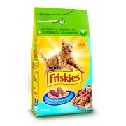Friskies Adult Cat Somon Ton si Crutoane - 100g
