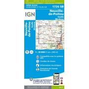Wandelkaart - Topografische kaart 1726SB Neuville-de-Poitou, Vouille, Mirebeau   IGN