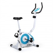 Klarfit Mobi FX 250 Fahrrad-Heimtrainer Ergometer Pulsmesser max. 100 kg weiß/bl