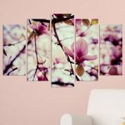 Декоративeн панел за стена с пролетен флорален дизайн в розово Vivid Home