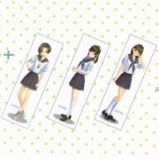 Ning Anegasaki-child Rin Kobayakawa, Aika Takamine Pillow Cover Love Plus we all three set (japan import)
