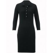 Peter Hahn Polo-Strickkleid 3/4-Arm aus reinem Kaschmir Peter Hahn Cashmere schwarz