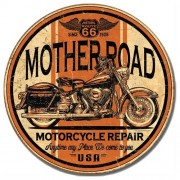 """""""Sign - Route 66 Mother Road Motorcycle Repair"""""""