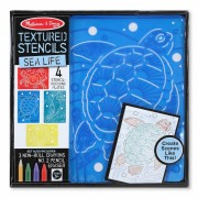 Melissa & Doug - Set de sabloane texturate Animale marine