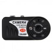 Mini HD DV 720x480p CCD de vision nocturna Camara - Negro