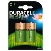 Pile Ricaricabili Duracell Accu - mezzatorcia - C - 1,2 V - HR14B2 (conf.2) - 284118 - Duracell