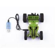 Masina Telecomanda Stunt Car Two Side Green-Blue - 24611