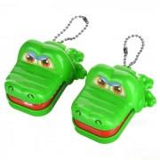 Mini Crocodile Dentist Mechanical Toy Keychains (2-Pack)