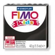 Gyurma, 42 g, égethető, FIMO Kids, fekete