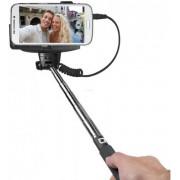 Selfie stick SBS Telescopic Shaft, cu suport de telefon, conectare prin jack 3.5mm cu declansator pe maner (Negru)