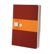 Moleskine Cahier - Set de 3 cuadernos a rayas, extragrandes, color rojo arándano (Moleskine Srl)