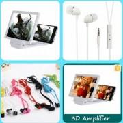 Combo Of Phone Magnifier + Universal Head phones