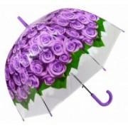 Deštník dámský vystřelovací holový růže fial. 9160-12 9160-12
