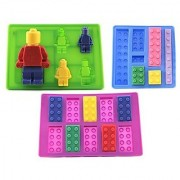 Building Blocks & Minifigure Candy Molds / Perfect for LEGO Themed Birthday Party for Candy Melts Cupcake Toppers Ice