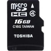 Card de memorie Toshiba M102, microSDHC, 16GB Clasa 4 + Adaptor SD