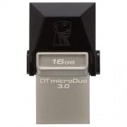 USB STICK KINGSTON; model: DTDUO3/16GB-OTG; capacitate: 16 GB; interfata: 3.0; culoare: NEGRU